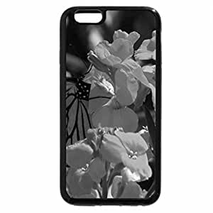 iPhone 6S Plus Case, iPhone 6 Plus Case (Black & White) - Yellow Flower and Butterfly