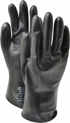 Honeywell B161/10 Large Butyl Gloves with Curved Hand Design for Comfort and Smooth Finish by Honeywell