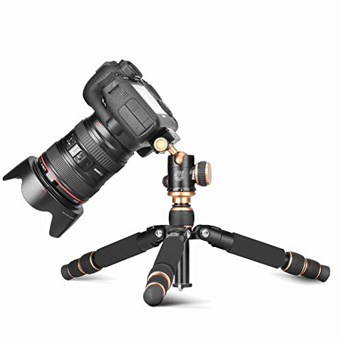 - MUJING Mini Tripod, Lightweight and Compact Aluminum Camera Tripod with 360 Panorama Ball Head Quick Release Plate for Travel and Work (Black)