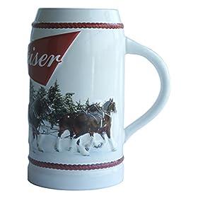 Budweiser Holiday Stein, 31-ounce