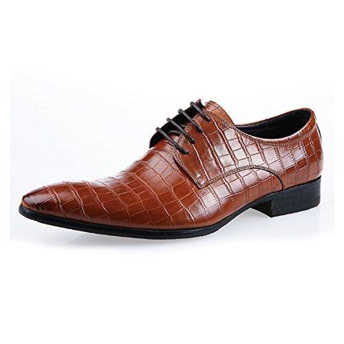 Stile Europeo Stringate Scarpe Appuntite da Americano Brown E Scarpe Traspiranti Comode Moda Sposa rOdrq