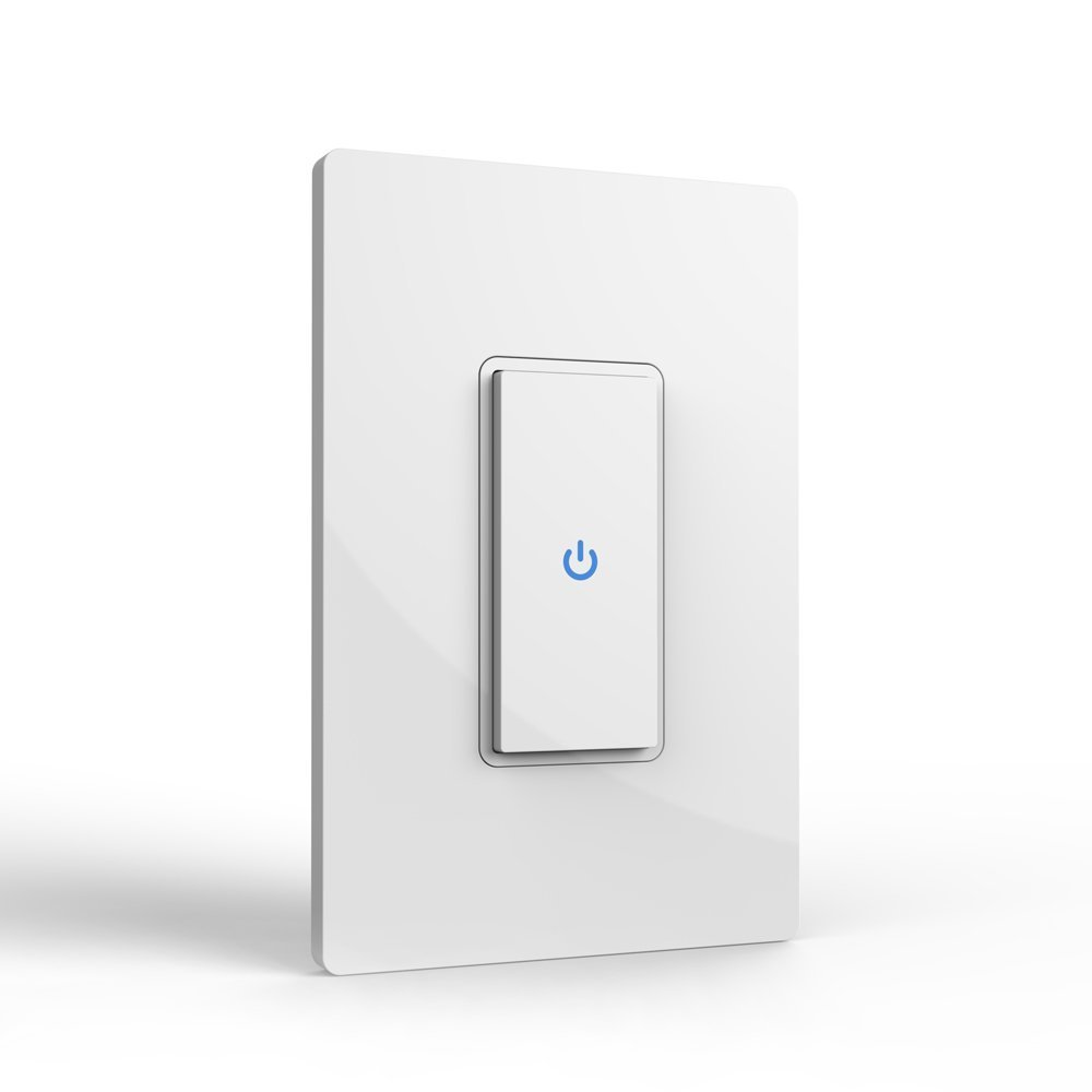 Wifi Smart Light Switch, Wireless Switch that Work with Alexa, Remote Timer Control Smart Plug with Smartphone, No Hub Required, for Home Office