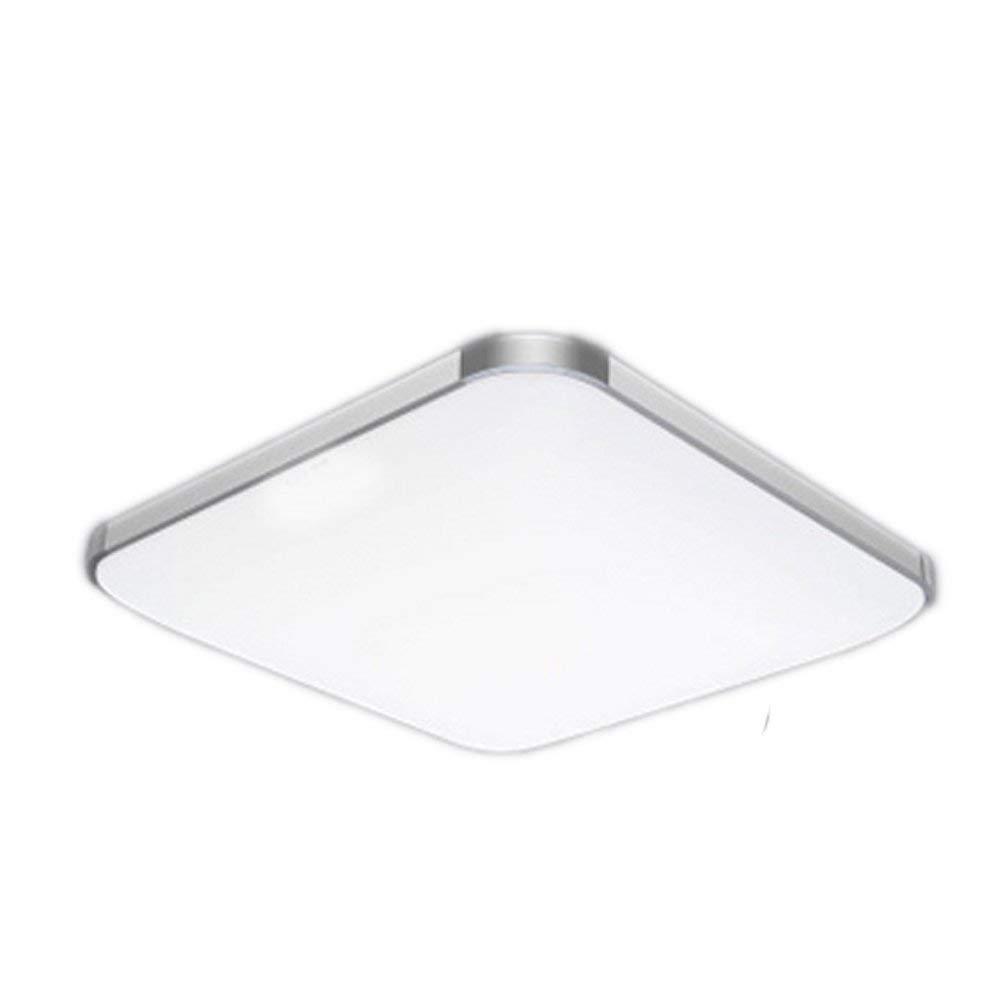 18W Ultra Slim LED-Deckenleuchten Warmweiß 3000K Super Bright 1440Lm mit Höhem CRI 80Ra, Aluminiumrahmen sowie Kunststofflampenschirm-Quadratlampe 300mm x 300mm LED-Deckenleuchte für Badezimmer, Flur,