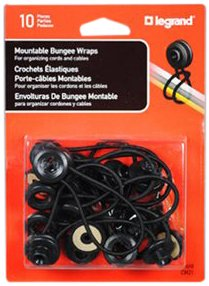 Legrand Assorted Colors Wiremold CM21 Bungee Wraps For Organizing Cords And Cables