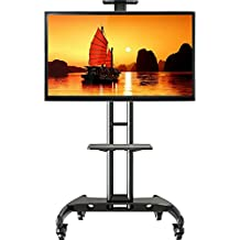 Universal Mobile TV Cart TV Stand with Mount AVA1500-60-1P for 40 - 60 inch [fits 32''- 65''] LED, LCD, Plasma, and Curved Displays up to 100 lbs