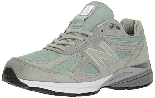 Image of the New Balance Men's 990v4 Running Shoe, Silver Mint/White, 8.5 D US