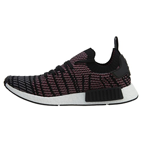 adidas Originals Men's NMD_r1 Running Shoe, Black/Grey/Solar Pink, 10.5 M US