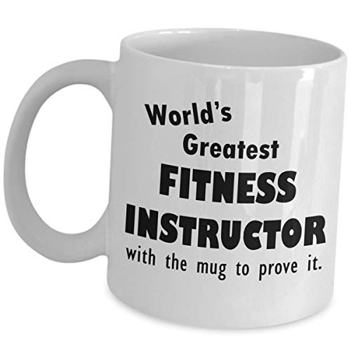 Gift for Worlds Greatest Fitness Instructor Coffee Tea Cup - With The Mug - Gym Instructors Funny Cute Appreciation Gifts Recognition Award Personal Training Trainer Mentor As Seen On Shirts Men Women -