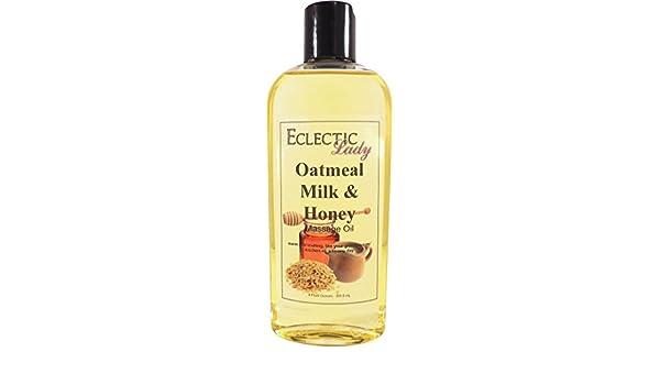 Eclectic Lady Leche de avena y aceite de masaje de miel 8 onzas: Amazon.es: Belleza