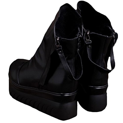outlet shop offer buy cheap reliable Mordenmiss Women's Spring/Summer Casual Shoes Zipper Platform Shoes Style 2-black free shipping choice 3KX9WH