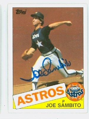 Joe Sambito AUTOGRAPH 1985 Topps #264 Houston Astros by Autographed Baseball Cards (1970-1979)