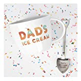 Josephine on Caffeine Gifts for Dad –Dad's Ice Cream Bowl and Engraved Spoon Dad's Ice Cream Shovel – Ideal or Birthday Gift