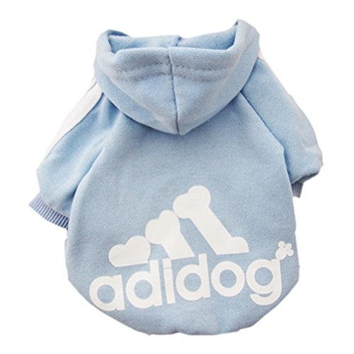 [BabeMall Super Cute Pet Cat Small Dog Puppy Hoodie Sweater Warm Fleece Costumes Coat Clothes (Colour Light Blue, Size] (Dorothy Dog Costume Xl)