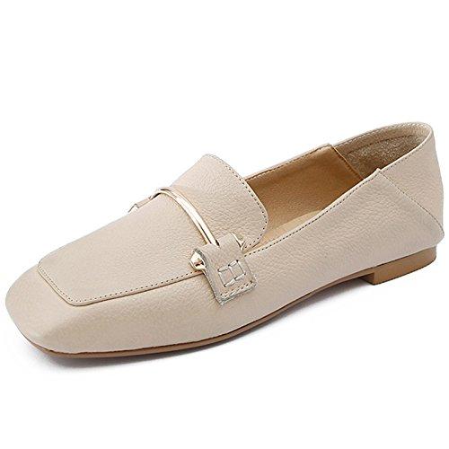 Plano Blanco Las Embarazadas En Cómodas Suaves Zapatos La Y Calzado Beige Zapatos Primavera Que Zapatos Perezosos De Dos Mujeres GAOLIM pSX6W7X