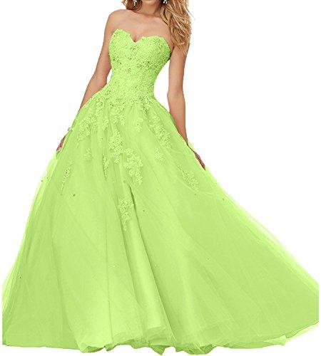 Lemon Braut A mia Gruen Ballkleider Lang Prinzess Promkleider Abendkleider Rosa Hochwertig La Linie Abiballkleider 7xgTqUwgn