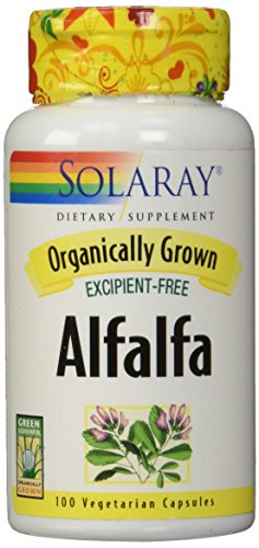Solaray Organically Grown Alfalfa Leaf 430mg | Vitamin-Rich Superfood w/Fiber & Chlorophyll | Supports Healthy Blood, Kidneys & Digestion | 100ct Review