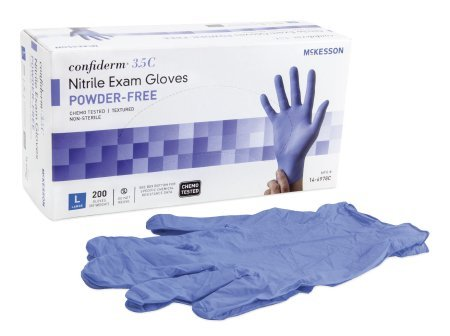 Mckesson Confiderm 3.5c Nitrile Exam Gloves (Formerly Tactile Touch) Large - 1/box of 200 by McKesson Brands