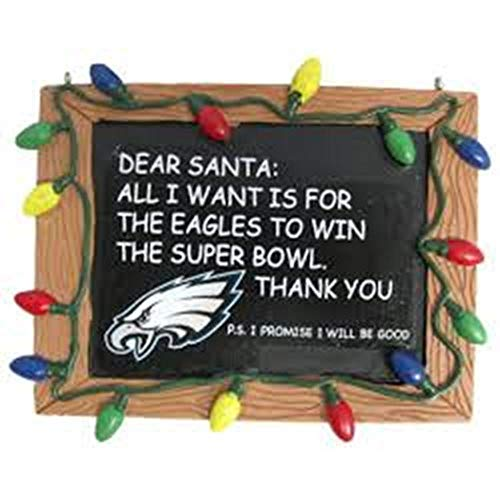 (Philadelphia Eagles Resin Chalkboard Sign Ornament)