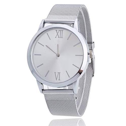 Staresen Reloj Mujer Correa de Acero Inoxidable Color Plateado Señoras de Las Mujeres de Plata de Acero Inoxidable Banda de Malla Reloj de Pulsera: ...