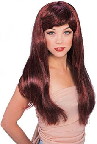 Rubie's Red with Black Glamour Wig, Red/Black, One -