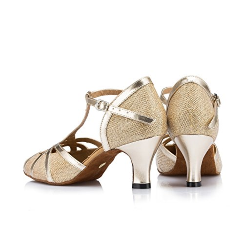Meijili Modern Ballrom Shoes Mesh Dance Tango Toe Dance Evening Gold Wedding Closed Womens Shoes Glitter Salsa Latin 8zrf8