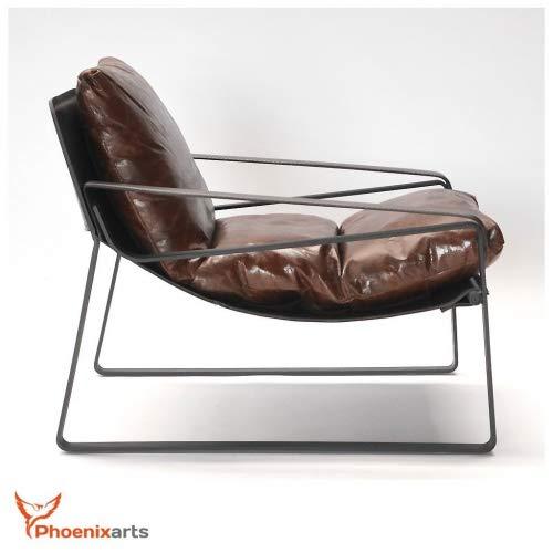 Phoenixarts Sofá Relax Vintage, de Cuero auténtico, diseño ...