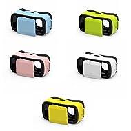 3D Mini VR Lunettes Masque Casque de Réalité Virtuelle pour Smartphone (Android et iOS) iphone Samsung 4.5 à 5.5inch - Jaune
