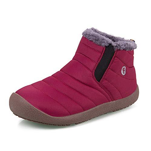 Chaussures Légères Et Fourrées Antidérapant Iceunicorn Hiver Extérieures Bottines Rouge Boots Neige De Chaudes Bottes Femmes Hommes qw7wxvta