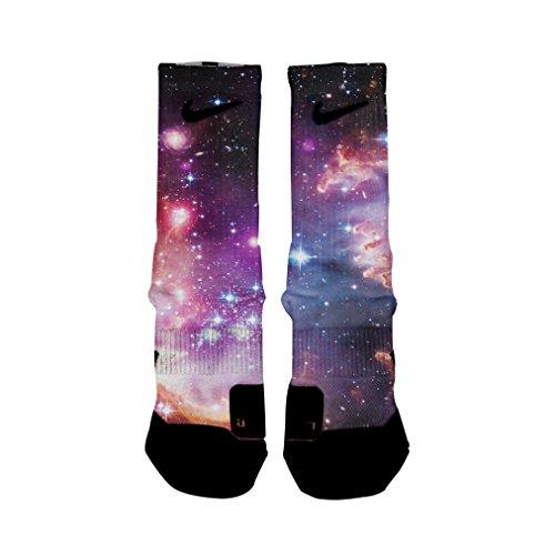 HoopSwagg Galaxy Custom Elite Socks Large