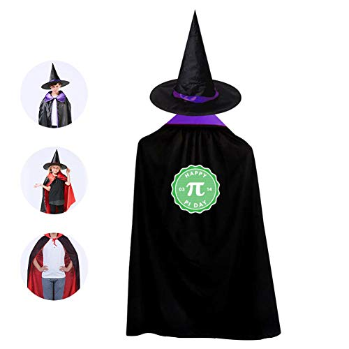 Math Teachers Are Planning For Pi Day Cosplay Cloak Wizard Witch Cape Pointy Cap Shawl Robe For Kid Halloween Party Costume -