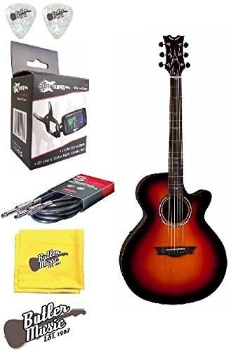 Dean PE PLUS TBZ Performer Plus Series TBZ A/E Guitar w/Clip-on Tuner and (Dean Performer Series)