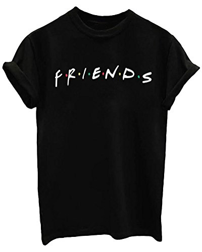 LOOKFACE Women Graphic Cute T Shirts Funny Tees(Gift Ideas) Black XX-Large