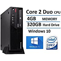 Lenovo ThinkCentre M58 Small Form Factor Business Desktop Computer, Intel Core 2 Duo 3.0GHz Processor, 4GB RAM, 320GB HDD, DVD, Gigabit Ethernet, VGA, Windows 10 Home (Certified Refurbished)
