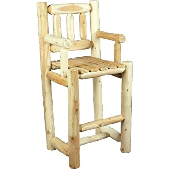 Amazon Com Castlecreek Log Bar Stool Kitchen Amp Dining