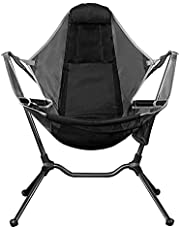 Camping Chair,Portable Camping Chair Portable Camping Chair Folding Rocking Fishing Chair with Pillow for Outdoors Travel Breathable and Comfortable Dropshipping