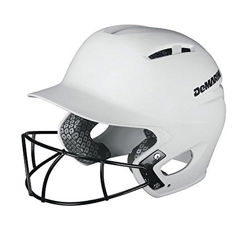 DeMarini Paradox Batting Helmet with Softball Protective Mask, White, Large/X-Large - Helmet Fit Batting