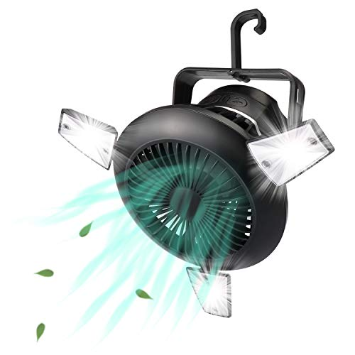 🥇 Misby Camping Fan with LED Lights