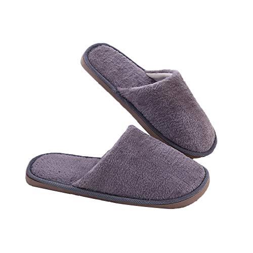 Pantofole Per 39 40 Interni Uomo 43 Wdoit Ed Morbide Calde Cotone 42  Peluche Autunno Donna ... a25487982f0