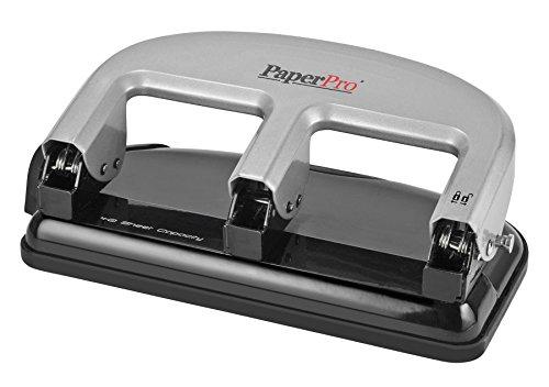 PaperPro inPRESS 40 Reduced Effort 3-Hole Punch, 40 Sheets, Silver (2240)