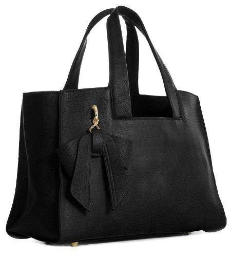 Big Handbag Shop - Bolso de asas para mujer One negro
