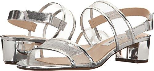 NINA Women's Ganice Dress Sandal, YM-b- Silver, 9.5 M US