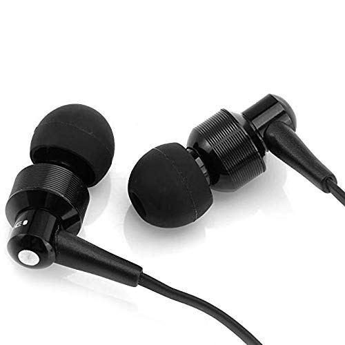 Awei Es500i Black Headset Headphone Earphone Earbuds Super Bass Noise Isolating with Mic for Samsung Wired Headsets