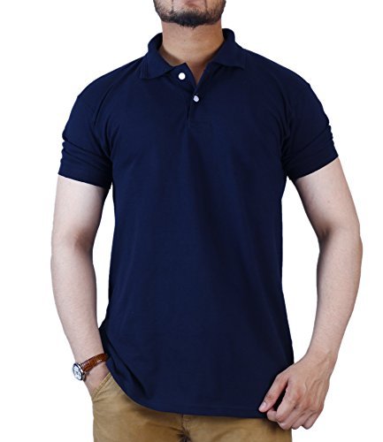 Foursquares Polo Shirt (Small, Navy)