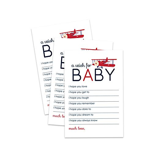 Airplane Wishes for Baby Cards - Set of 20