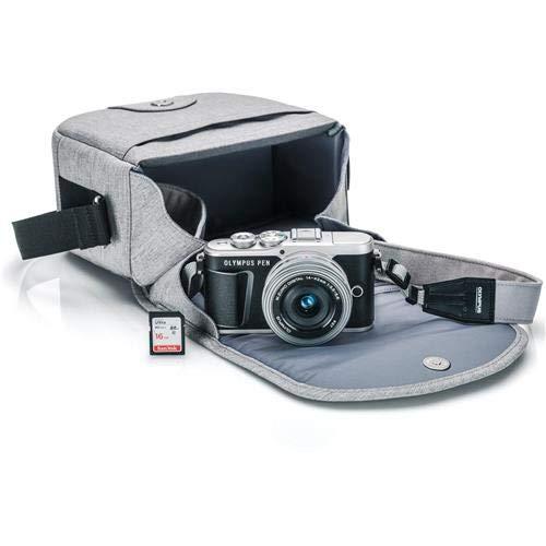 Olympus PEN E-PL9 Kit with 14-42mm EZ Lens, Camera Bag, and Memory Card (Onyx Black)