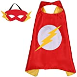 DC Comics Costume - The Flash Logo Cape and Mask with Gift Box by Superheroes