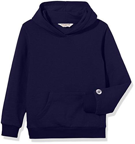 Kid Nation Kids' Solid Fleece Hooded Pullover Sweatshirt for Boys Or Girls L Navy