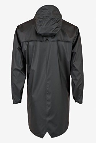 RAINS Noir Homme Manteau Black Long Jacket 01 7wFqHx7Ir