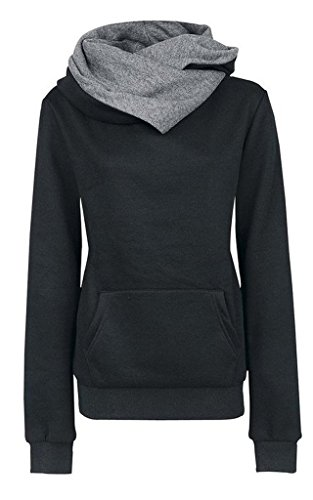 Damen Kapuzenjacke Winter Frauen Kapuzenshirt Oberteile Frauen Outwear Hut Winter Frauen Damen Fall Outdoor Langarm Einfarbig Sweatshirt
