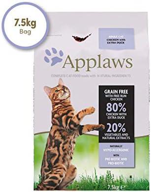 Applaws Comida seca para gatos, pollo y pato/adulto, 7.5 kg ...